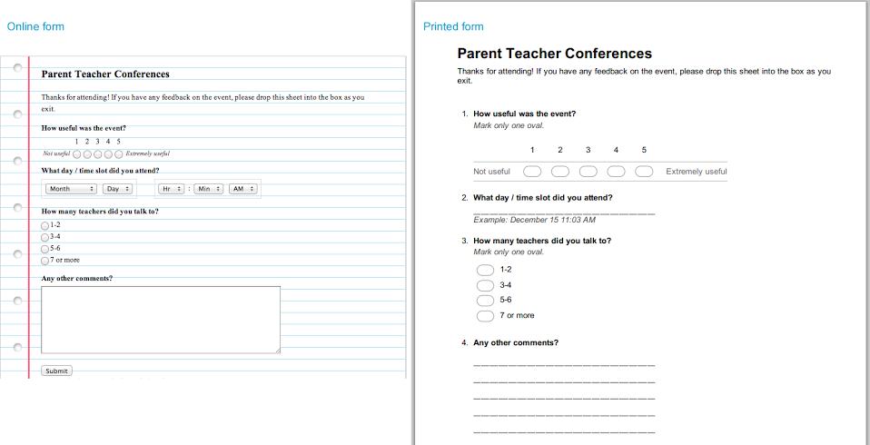 Google Docs Forms Print