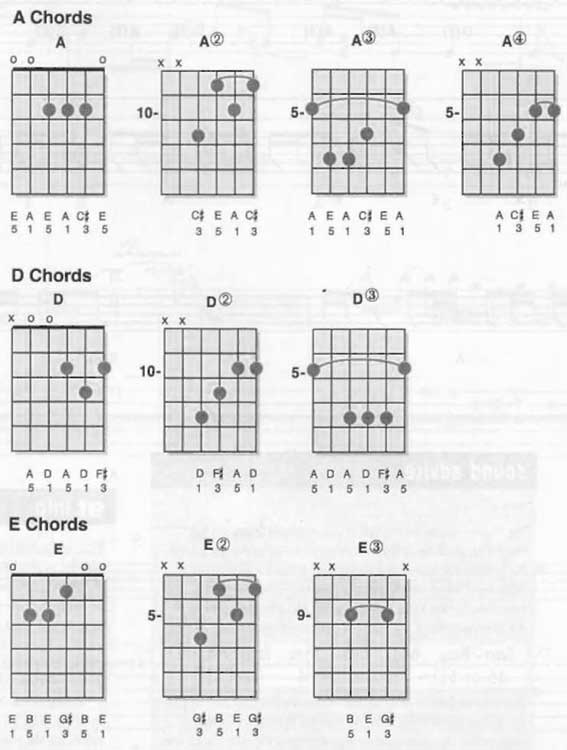 Bo Diddley Not Fade Away Chords