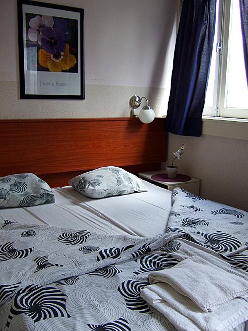 My hotel room at Hotel Ajax