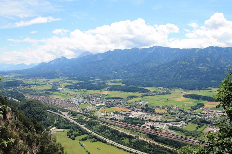 Aussicht von der Villacher Alpenstraße