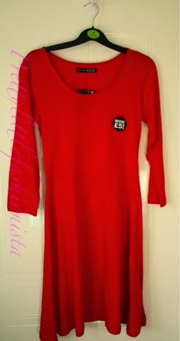 Primark red £5 skater dress