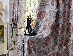 Rèm cửa sổ đẹp hà nội họa tiết phương đông 55