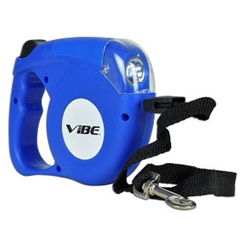 5M Blue Retractable Extending Extendable Dog Puppy Pet Leash Lead with LED Light