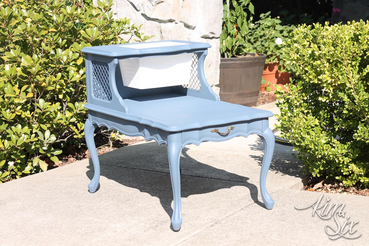 Painted two tier end table