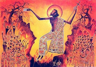 Иисус на заирской картине