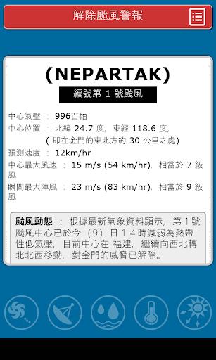 台灣颱風動態