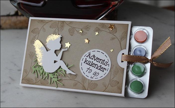Adventsmarkt Adventskalender to go Verpackung Stampin Up Einhorn Hirsche Schlitten Zweige 05