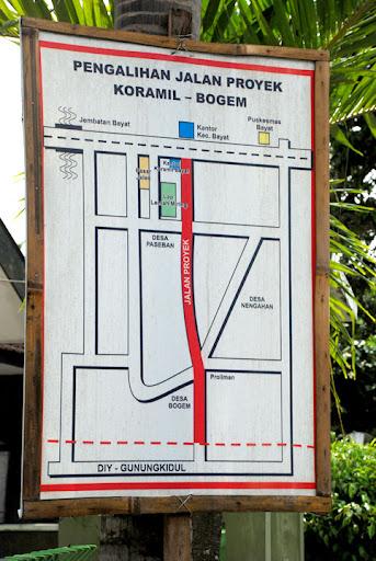 Peta Jalan Rute Singkat ke Curug Indah Gedangsari