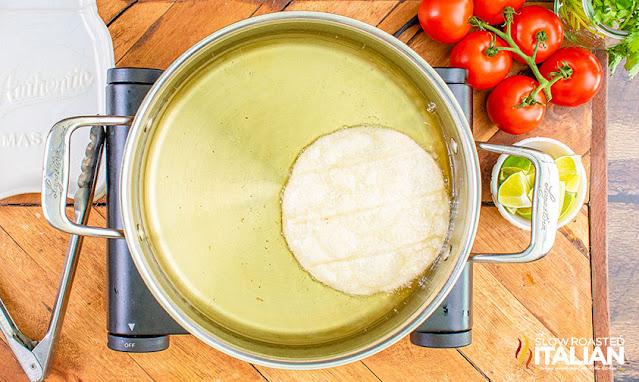 chalupa frying in oil