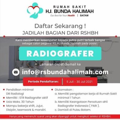 Radiografer RS. hj Bunda Halimah