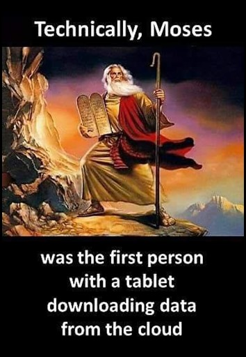Moses with a tablet