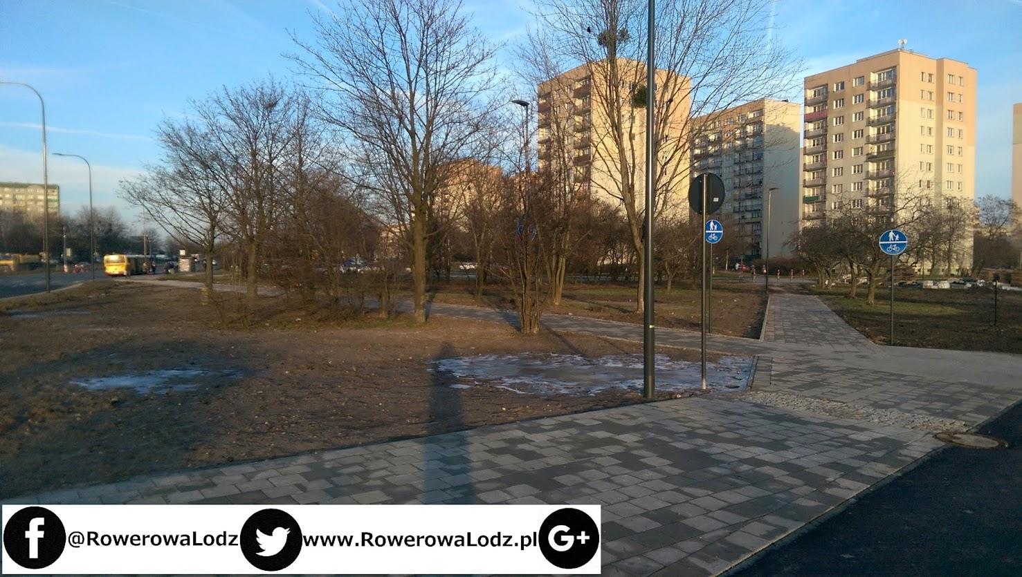 Dotychczasowa asfaltowa droga zmieniona została na chodnikowy ciąg pieszo-rowerowy