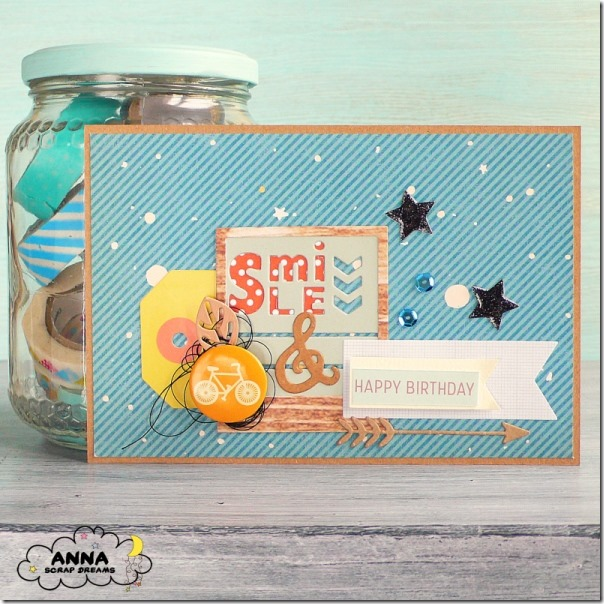 Cardmaking Glossy Accents per una card maschile