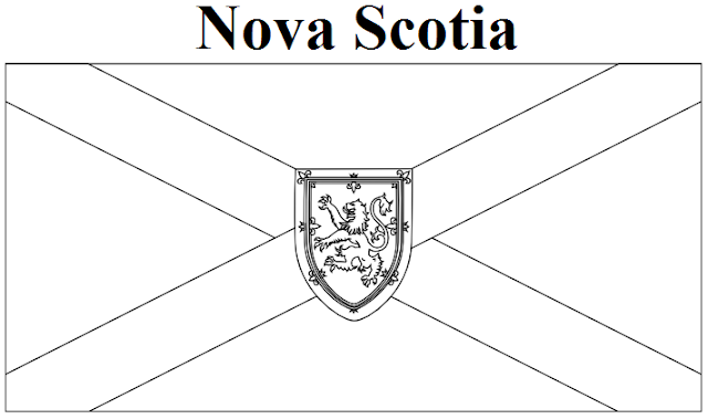 Nova Scotia Flag Coloring Page