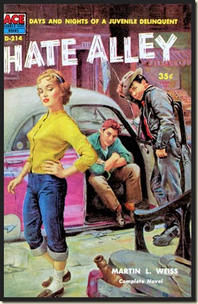 HATE ALLEY (1957) cover by Samson Pollen bd
