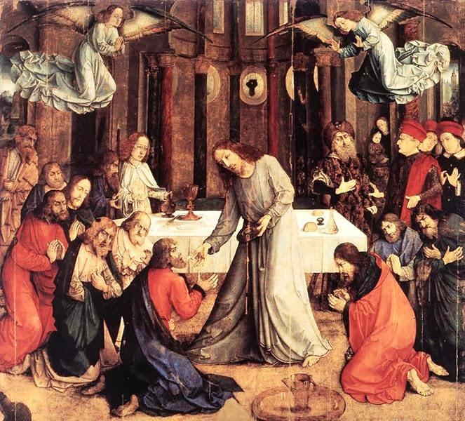 Justus van Gent - The Institution of the Eucharist