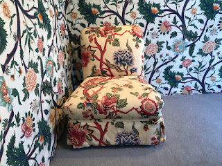 Custom Floral Slipper Chair 1