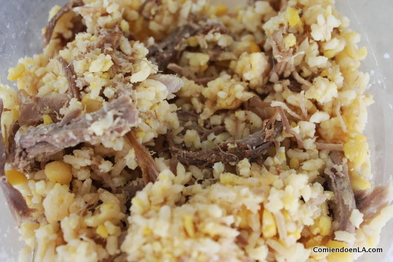 Rice for empanadas