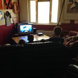 Vanwege het slechte weer de film 'Sharktale' gekeken.
