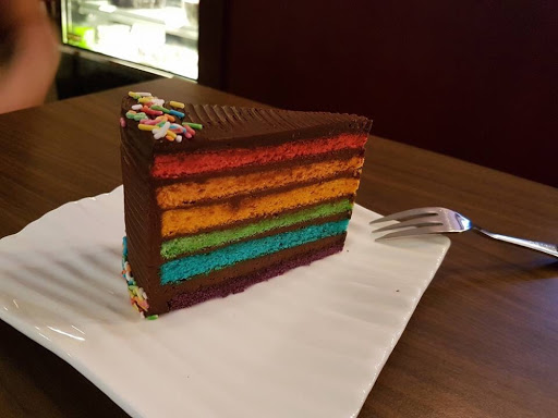 Rainbow chocolate cake from L'etoile Cafe at Farrer Park