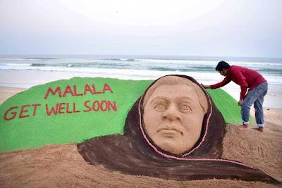 """""""Malala Yousafzai in sand"""""""