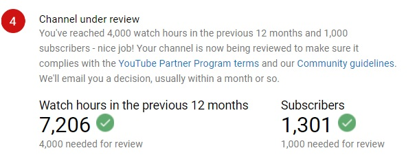 i've reach 1000 subscribers 4000 hours watching hours     - YouTube Help