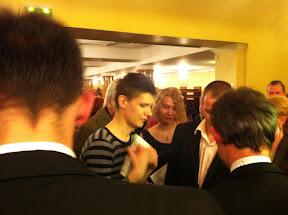 With fans in Tallinn