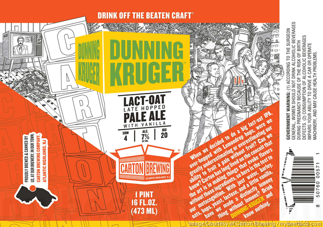 Carton Brewing - Dunning Kruger Lact-Oat Late Hopped Pale Ale
