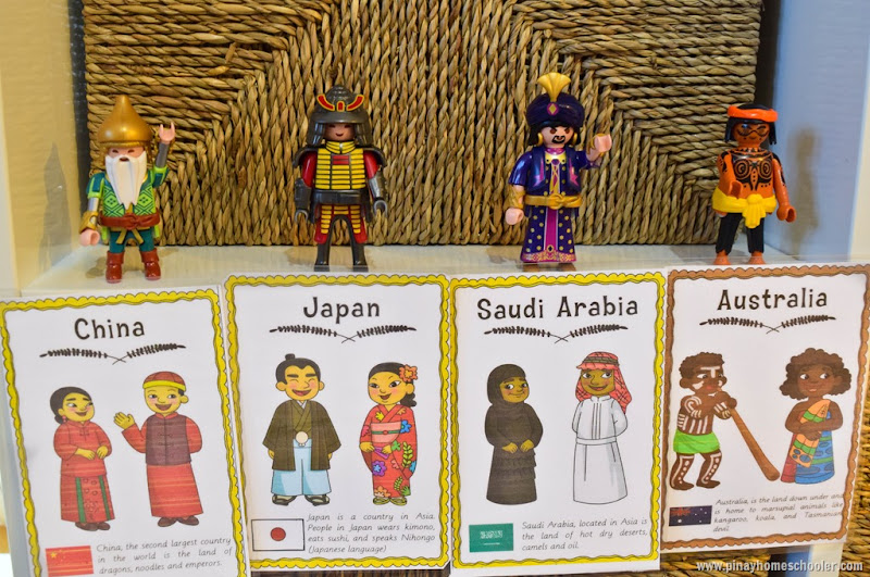 Asia and Australia Continent Costume Cards