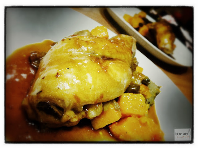 Conejo con calabaza y setas restaurante a domicilio Mejor en casa