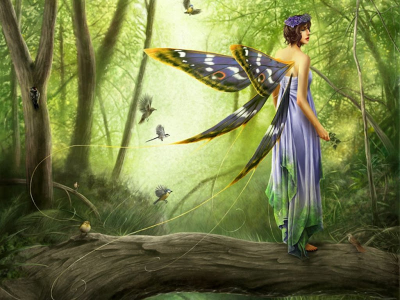 Fairy In Green Forest, Fairies Girls