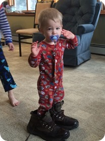Wearing Grandpa's Boots
