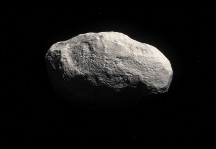 ilustração do cometa rochoso C2014 S3 PANSTARRS