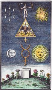 18th Century Engraving Based On Work Of Basil Valentine, Alchemical And Hermetic Emblems 2