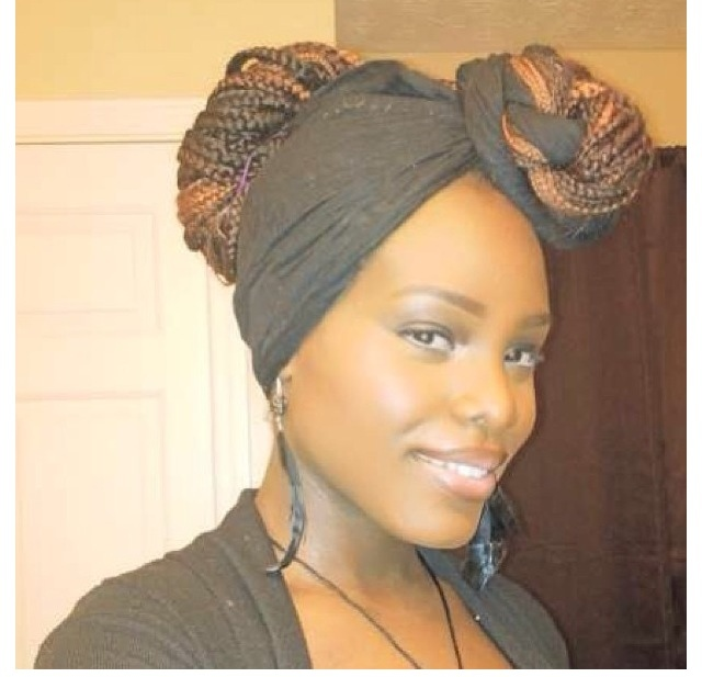 different natural hairstyles : Fashion/Ankara/Magazine: Box braids and its different styles