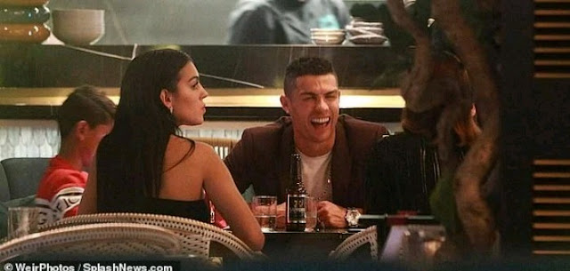 Juventus striker, Cristiano Ronaldo is currently in London where he is spending his international break with his family