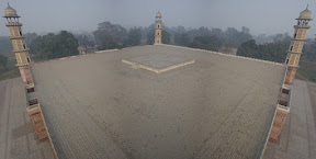 panoramic view from the top of the minar