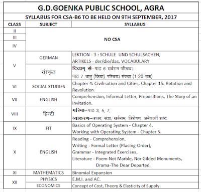 holiday homework of gd goenka public school agra