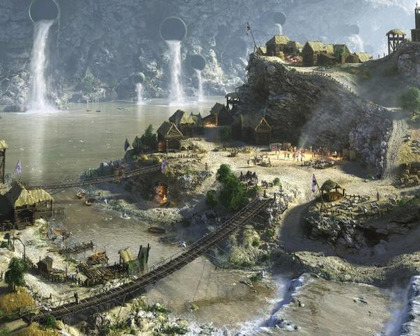 Dam In A Small Village, Magical Landscapes 1