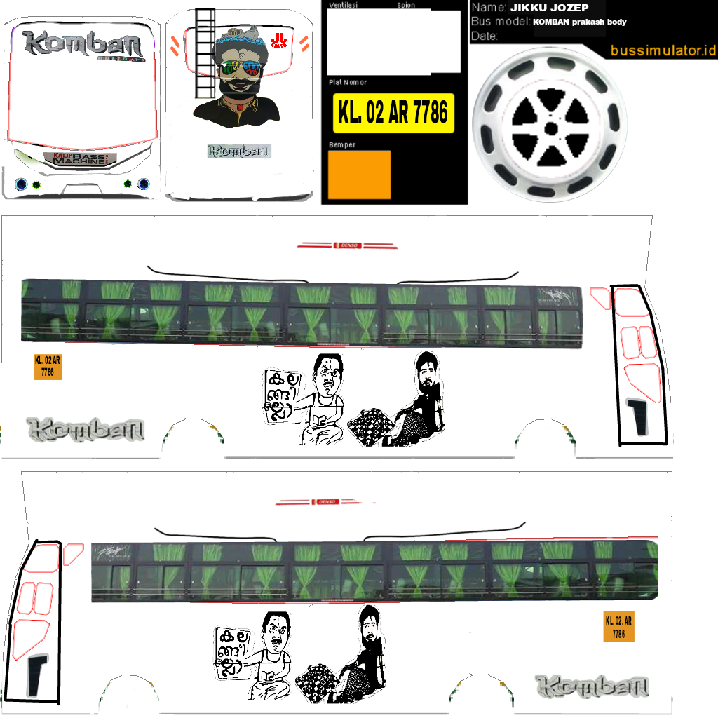 Top 5 Komban Yodhavu Livery For Bus Simulator Indonesia [My