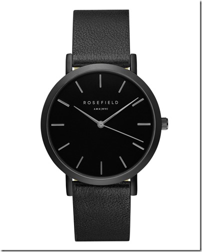 Rosefield Watch - The Gramercy Black Black