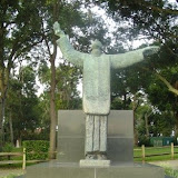 A memorial to Father Francisco Lopez de Mendoza Grajales. He celebrated the first Mass in the new colony on September 8, 1565.