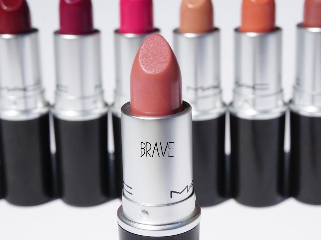 mac lipstick brave satin review