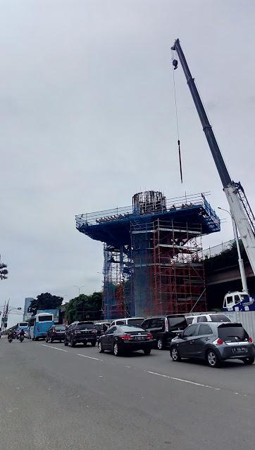 Progress Pembangunan MRT Jakarta View Perempatan Fatmawatie