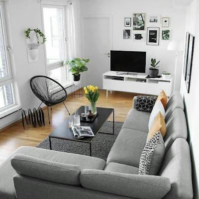 Ruang keluarga minimalis elegan