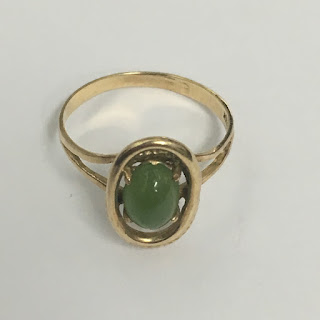 10Kt. Gold and Jade Ring