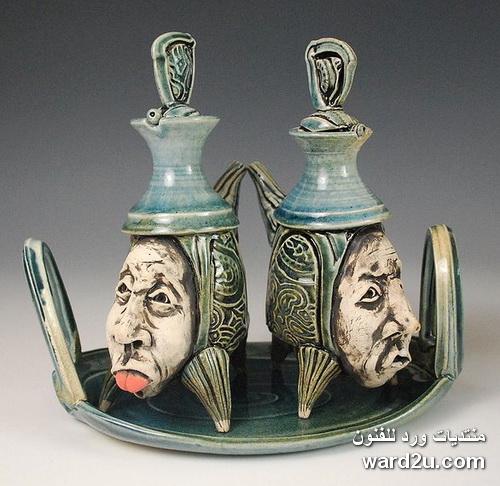 خزفيات سرياليه للفنان Vadim Malkin