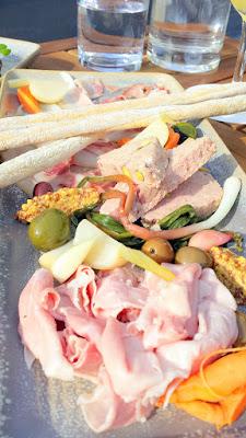 Renata Menu selection of the Board of Salumi with prosciutto cotto, pork terrina, coppa di testa and accompaniments is pretty substantial