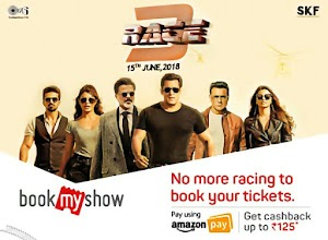 Race 3 offers & Promocodes - Avail Upto 100% cashback on booking movie tickets