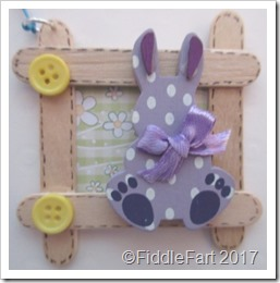 Craft Stick Easter Bunny New Baby Tag.